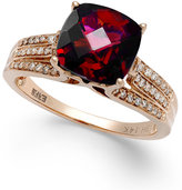 Effy Rhodolite Garnet (3-1/4 ct. t.w.) and Diamond (1/5 ct. t.w.) Ring in 14k Rose Gold