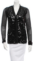 Anna Sui Sequined Mesh Cardigan