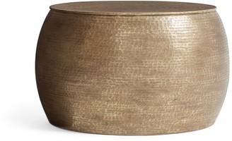 Pottery Barn Bermuda Hammered Brass Coffee Table
