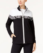 Alfred Dunner Easy Going Colorblocked Active Jacket