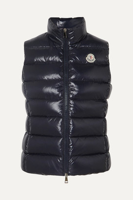 Moncler Quilted Shell Down Vest - Navy