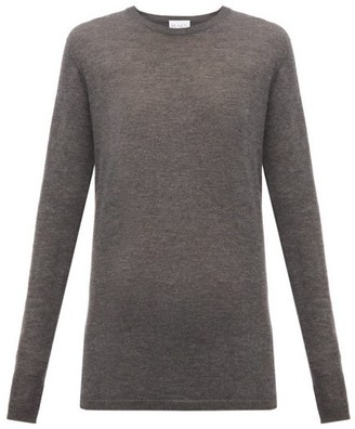 Raey Long-line Fine-knit Cashmere Sweater - Womens - Charcoal