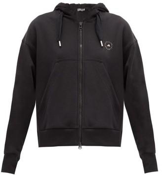 adidas by Stella McCartney Zipped Organic-cotton Jersey Hooded Sweatshirt - Black