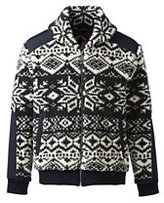 Lands' End Men's North Sea Sherpa Jacket-Black