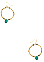 Vanessa Mooney Rumor Turquoise Hoop Earrings