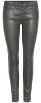 AG Jeans The Legging Ankle coated cotton-blend skinny jeans