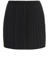 Marco De Vincenzo Pleated crepe mini skirt