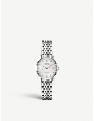 Longines L4.309.4.87.6 Elegant collection mother-of-pearl and stainless steel watch
