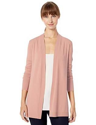 Lark & Ro Lightweight Long Sleeve Mid-Length Cardigan Sweater,L