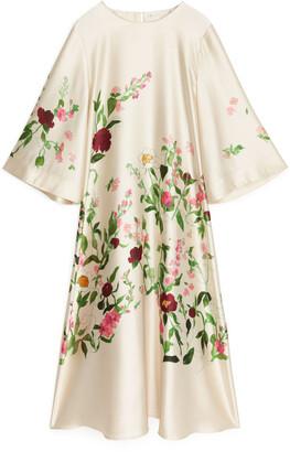 Arket Fluid Satin Dress