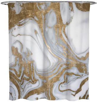 """Oliver Gal Gold Cactus"""" Gold Foil Embellished Canvas, 18""""x18"""""""