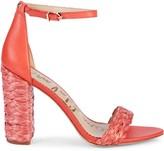 Sam Edelman Yoana Raffia & Leather Ankle-Strap Sandals