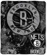 Northwest Company Brooklyn Nets 50x60in Plush Throw Drop Down