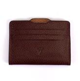 Atelier Hiva Double Card Holder Burgundy & Brown