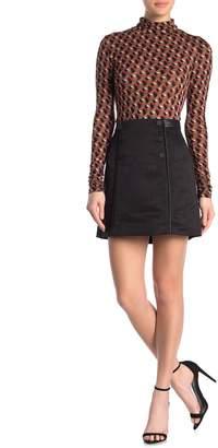 BCBGMAXAZRIA Button Front Mini Skirt