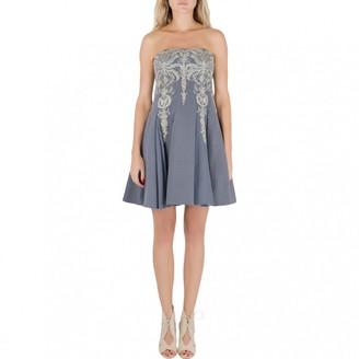 Marchesa Grey Cotton Dresses