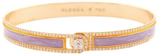 Alessa Rose Gold and Diamond Spectrum Border Bangle