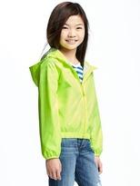 Old Navy Neon-Color Hooded Windbreaker for Girls