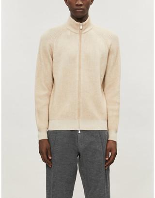 Brunello Cucinelli High-neck zipped cashmere cardigan