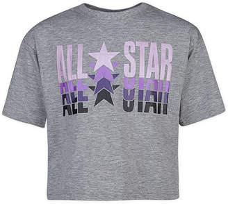 Converse Girls Round Neck Short Sleeve Graphic T-Shirt - Big Kid