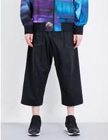 Y-3 Y3 Waxed-cotton jogging bottoms