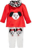 Nannette Little Girls', Toddler 2-Piece Puppy Top & Pants Set