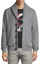 Rag & Bone Gasper Shawl-Collar Knit Cardigan, Gray
