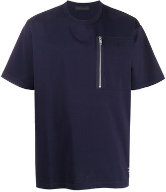Undercover zip patch pocket T-shirt