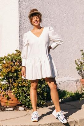 Nasty Gal Womens Smock Today Plus Mini Dress - White