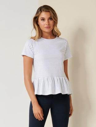 Forever New Joanne Smock T-shirt - Navy/Stripe - xxs