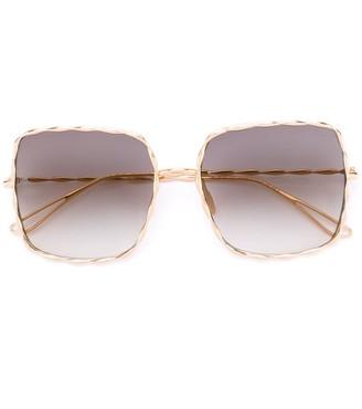 Elie Saab Oversized Sunglasses