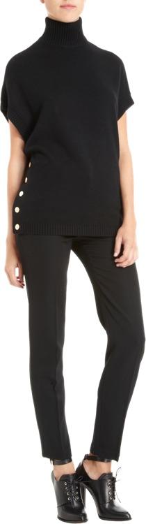 Givenchy Short Sleeve Turtleneck