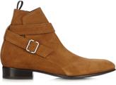 Balenciaga Wraparound suede boots
