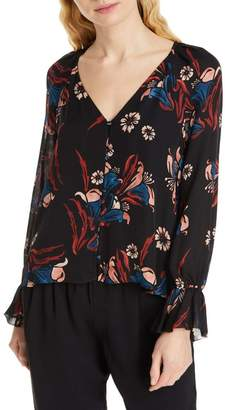Joie Boyana Floral Silk Blouse