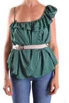 Patrizia Pepe Women's Green Polyester Top.