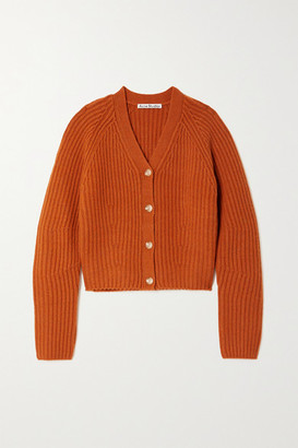 Acne Studios Ribbed Wool Cardigan - Orange