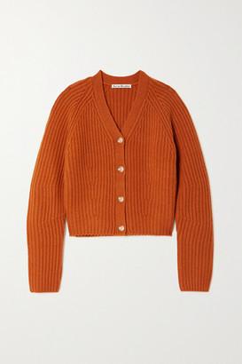 Acne Studios Ribbed Wool Cardigan
