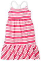 Nautica Girls 7-16) Variegated Stripe Hi-Low Dress