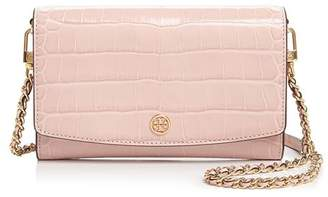 Tory Burch Robinson Embossed Leather Wallet Shoulder Bag