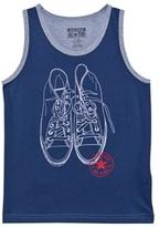 Converse Navy Trainer Outline Vest Top