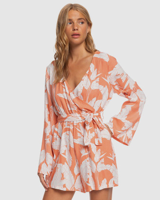 Roxy Womens New Morning Air Long Sleeve Wrap Playsuit