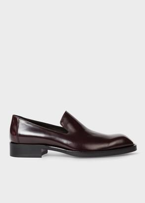 Paul Smith Women's High-Shine Burgundy Leather 'Hawk' Loafers