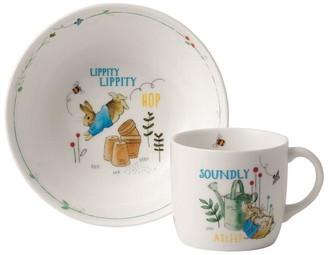Wedgwood Peter Rabbit Bowl & Mug 2pc Set Blue