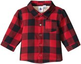 Petit Bateau Sherpa Checkered Shirt (Baby) - Red Navy - 24 Months