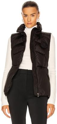 Moncler Ana Gilet Vest in Black | FWRD