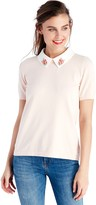 Sole Society Embellished Collar Pullover