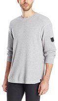 Southpole Men's Thermal Basic with Zipper Details On Side and Scallop Bottom