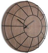 Umbra Cage Wall Clock - Black/Walnut