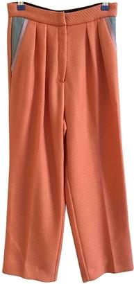 Roksanda Orange Wool Trousers