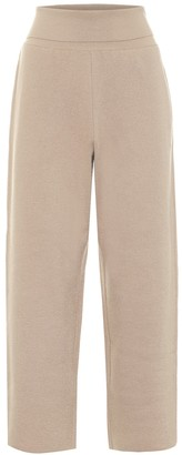 Stella McCartney Wide-leg virgin wool cropped pants